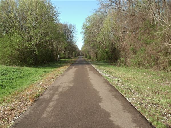 some vacation photos on the relatively new rails to trails multi-use path in New Albany, Mississippi