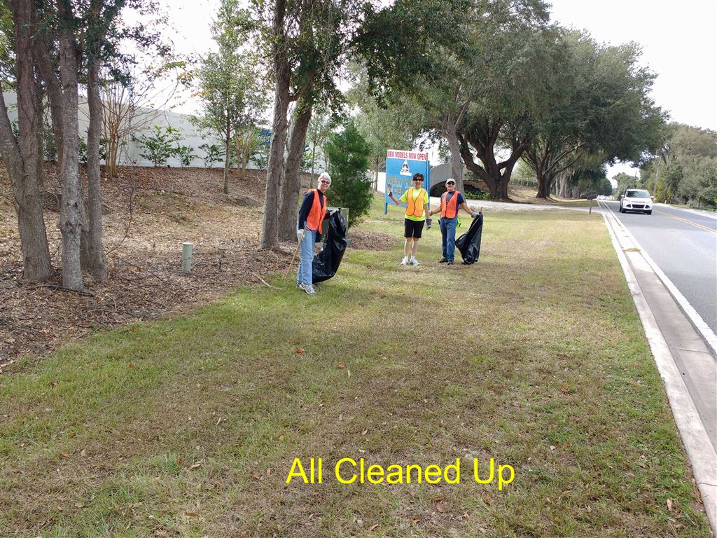 A great big thanks to all that came out to help with our Adopt a Highway event. We had about 25 people participate and we gathered fifteen bags of garbage. - Debbie Dessert