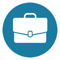 professional development icon briefcase