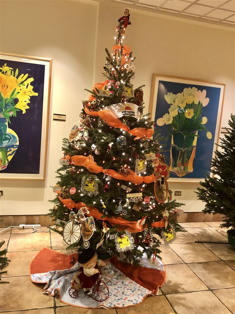 Over 45 holiday trees grace the lower level of the Davis Center.  All the trees were decorated by local nonprofit organizations.  This is the 3rd year OSW has proudly displayed a tree.