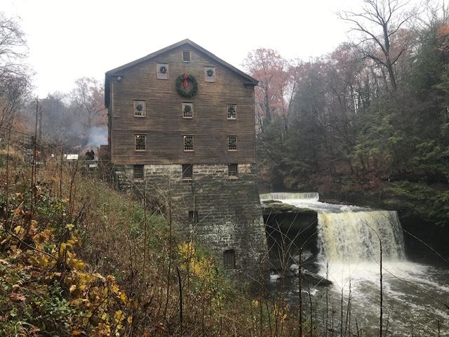 Hike to the Christmas open house at Lanterman Mill. Thanks Duane for leading