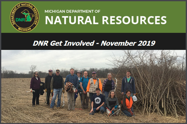 DNR Noverember 2019 DNR Volunteer Oppertunities