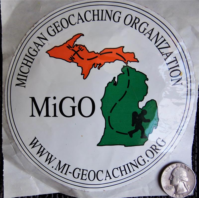 MiGO White Window Sticker