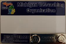 Official MiGO Trackable Name Badge (Blue Solid) - click to view details