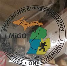 MiGO Clear Window Sticker (black lettering) - click to view details