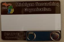 Official MiGO Trackable Name Badge (Gold Solid) - click to view details