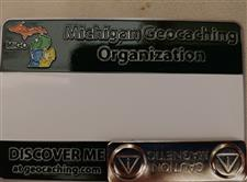 Official MiGO Trackable Name Badge (Green-Solid) - click to view details