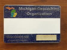 Official MiGO Trackable Name Badge (Blue Glitter) - click to view details