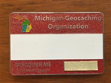 Official MiGO Trackable Name Badge (Red Glitter) - click to view details