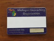 Official MiGO Trackable Name Badge (Purple Glitte) - click to view details