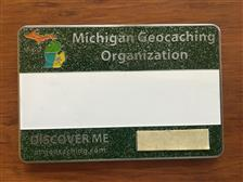 Official MiGO Trackable Name Badge (Green Glitter) - click to view details