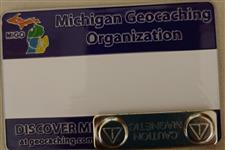 Official MiGO Trackable Name Badge (Purple Solid) - click to view details