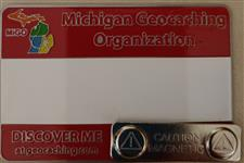Official MiGO Trackable Name Badge (Red Solid) - click to view details