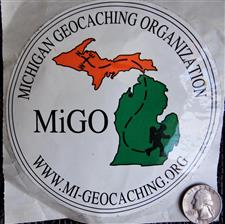 MiGO White Window Sticker  - click to view details