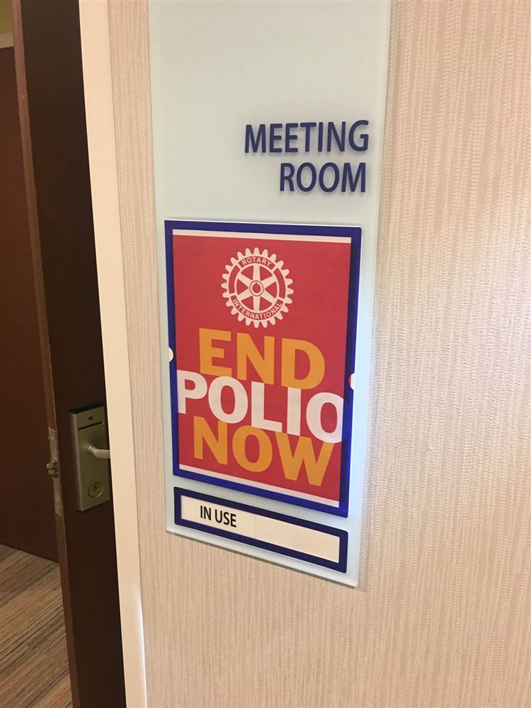 The Rotary Club of Aurora, Il hosted a live streaming event for World Polio Day October 24, 2018.  End Polio Now