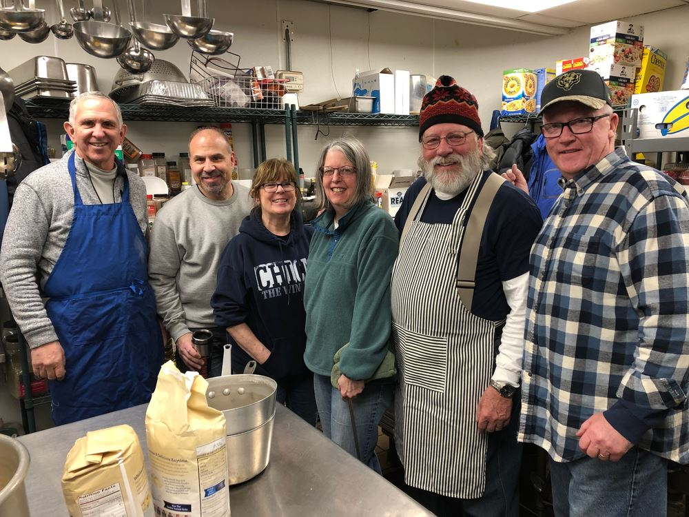 Thank you to our Hesed volunteers!  We served 175 people breakfast on March 30th.  They had carved hams, eggs, biscuits, yogurt, juice and a fresh fruit salad.  MANY thanks to George and Kathy Ball, L