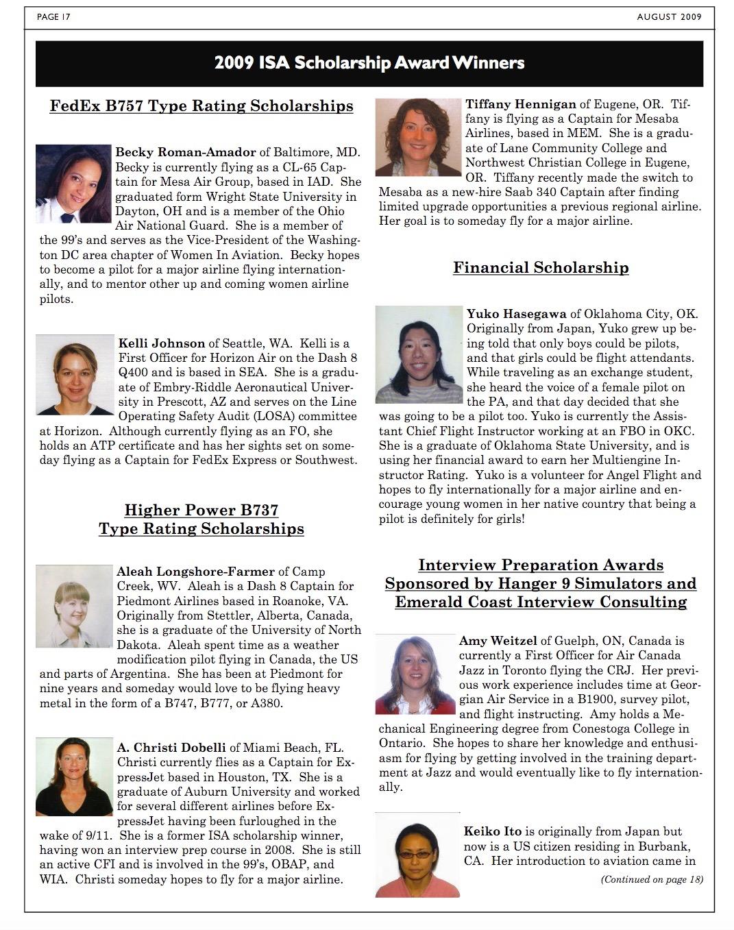 Scholarship Information & Application - International