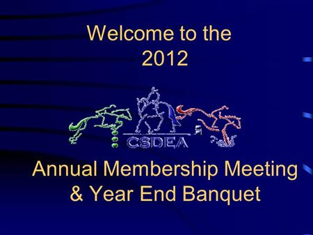 Power Point slides from the annual banquet held on 1/26/2013 for the 2012 awards.
