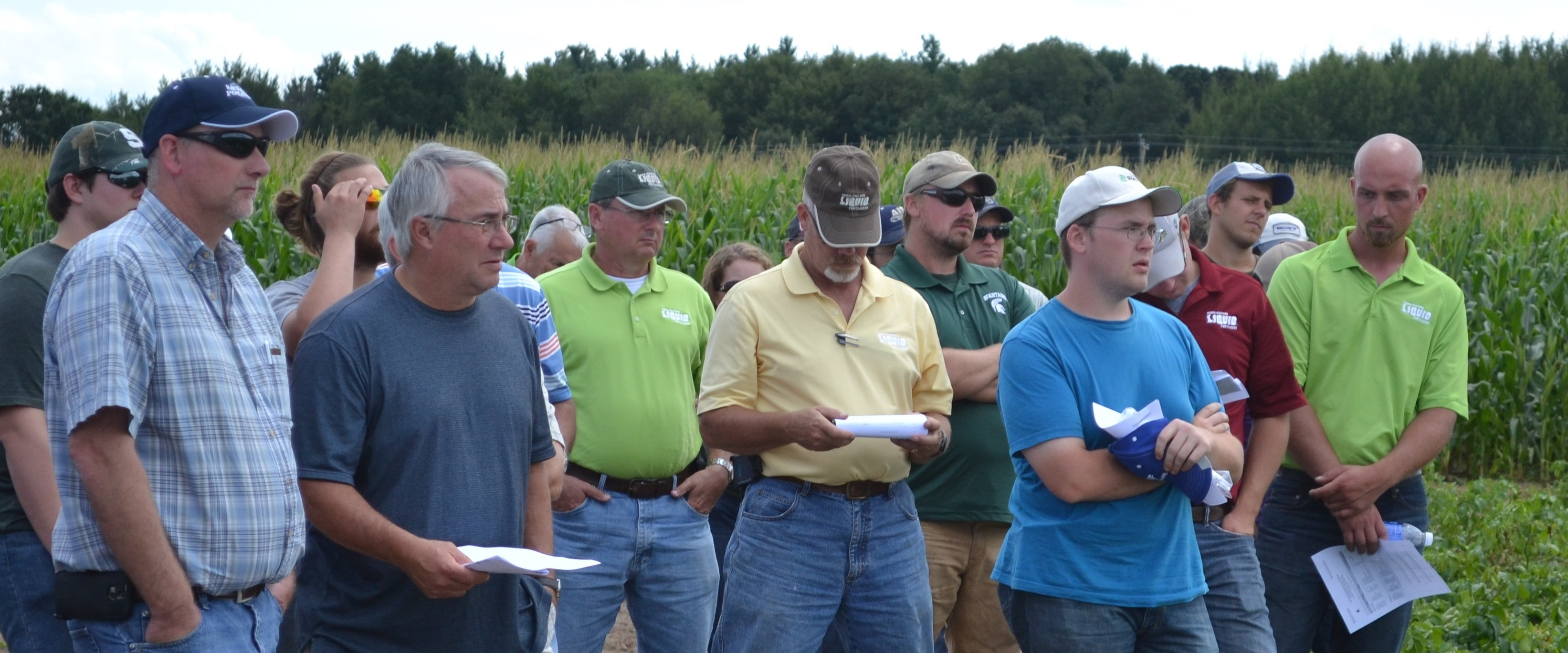 Growers at field day