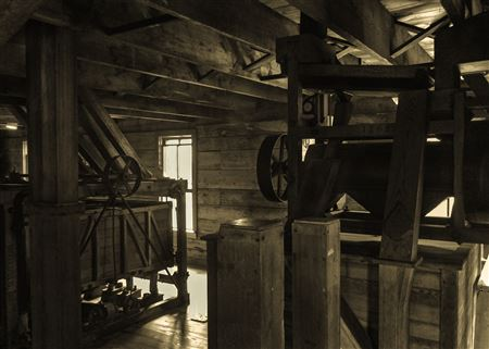 Alley Spring Roller Mill, Built in 1894, Powered by Turbine, Non-Operational