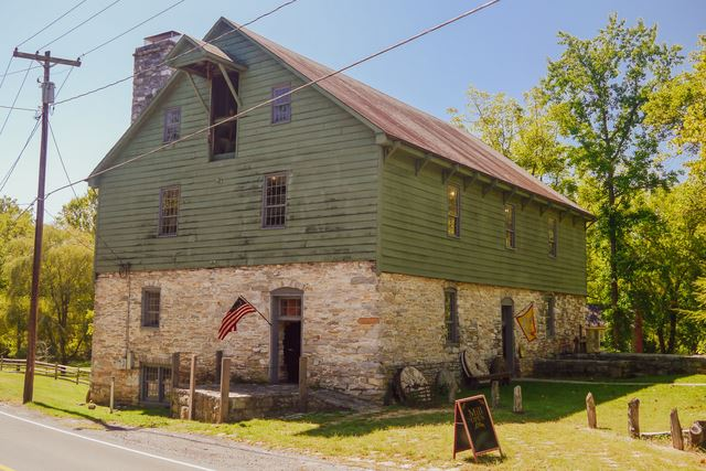 Burwell-Morgan Mill, Built: 1785, Powered By: Overshot Wheel Internal, Operational