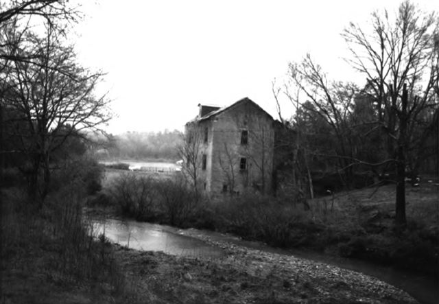 Beans Creek Mill, Powered by Overshot Wheel, Ruins