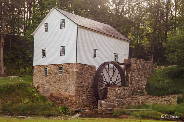Garvine;s Mill, Powered By: Overshot Wheel, Non-Operational