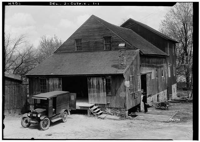 John England Grist Mill, AKA Red Mill, Built: 1889, Powered by: Turbine, Non-Operational