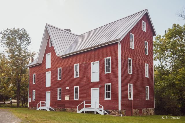 Kirby Grist Mill, Built: 1778, Powered by: Breast Wheel
