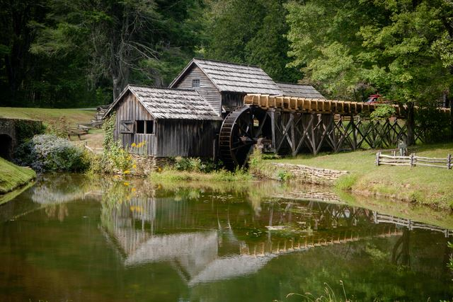 Mabry Mill, Built: 1910, Powered By: Overshot Wheel, Condition: Operational Wheel but not grinding