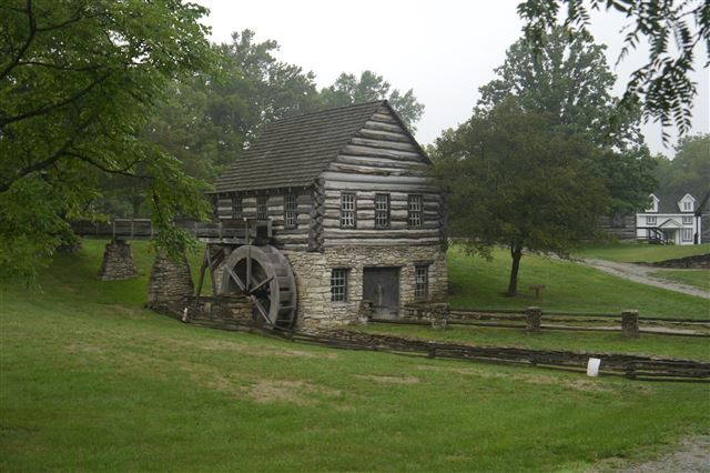 Yankee Smith Grist Mill, Built 1978, Reproduction Mill, powered by Overshot Wheel, Currently Museum