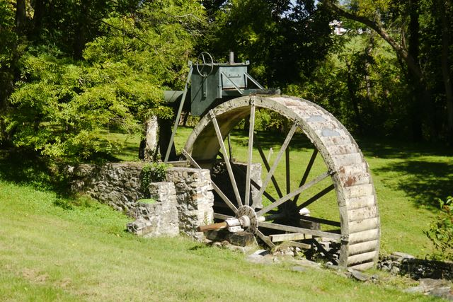 Beeler's Mill, Built 1761, Powered By: Overshot Wheel, Non-Oporational