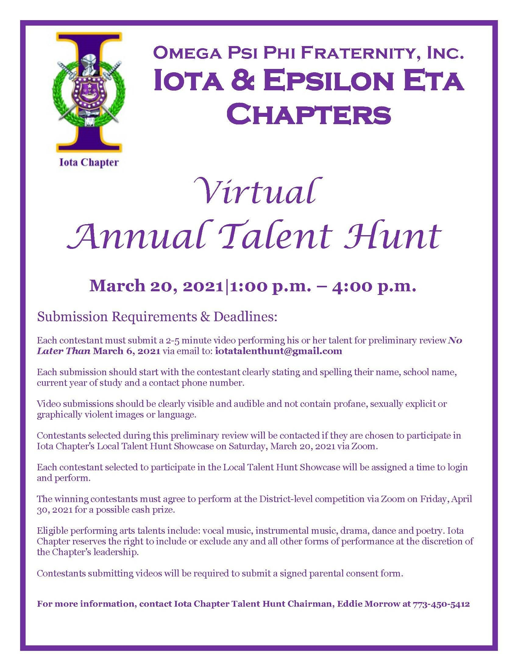 Talent Hunt 2021 Flyer
