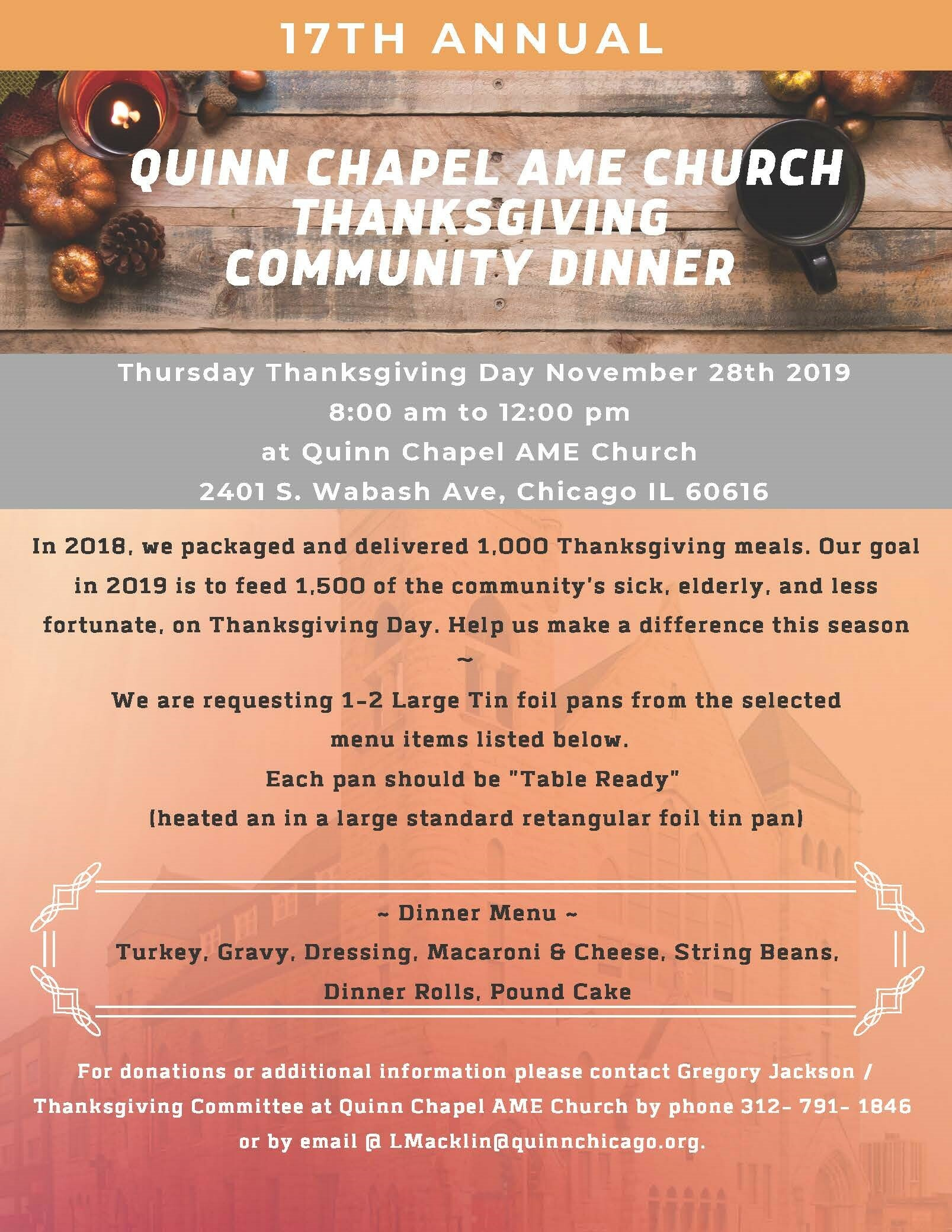 Quinn Chapel Thanksgiving 2019