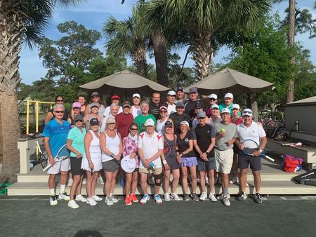 Member pictures from MLSC Tennis Program including the 2019 Hilton Head Trip