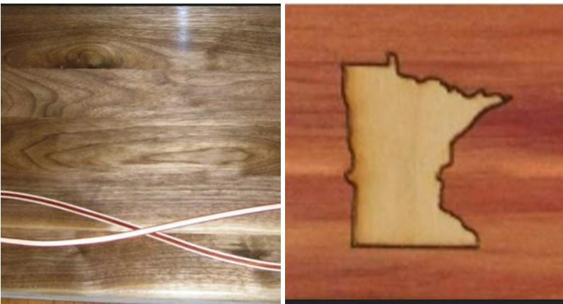 Inlay cutting boards