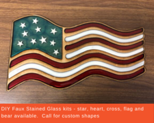 DIY Faux Stained Glass kits - click to view details