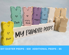 DIY Easter Peeps kit - click to view details