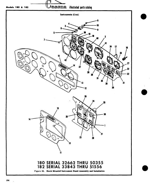 1958 Cessna 182 Parts Manual