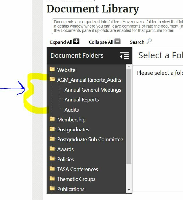 Document Library pic re Annual Report