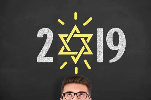 image of 2019 with a Jewish Star