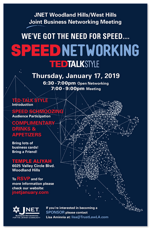 JNET Speed Networking Woodland Hills West Hills Joint Meeting