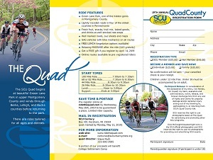 Link to Quad County Ride Brochure