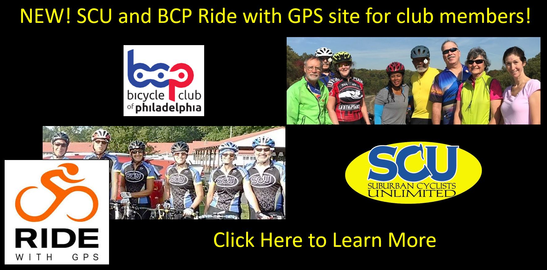 Click to go to the SCU Ride With GPS Information Page