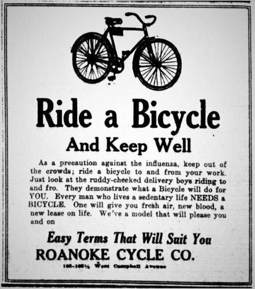 Ride a Bike 1918 Influenza