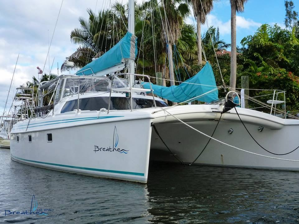 Breathe is our 1999 Manta 40 Catamaran. We are full time cruisers. In April 2020 we left Lighthouse Point Fl and headed to the Chesapeake, returning to FL in Nov. currently in FL Keys for Winter 2021