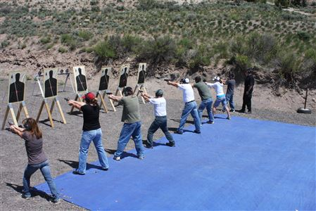 This program gives shooters who have gained competent skills target shooting the self-defense techniques to successfully protect themselves and their family.