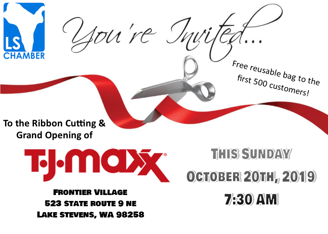 TJ Maxx Ribbon Cutting - Join us!