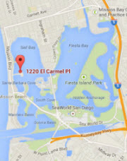 SDRC is located at 1220 El Carmel Place on Mission Bay in San Diego