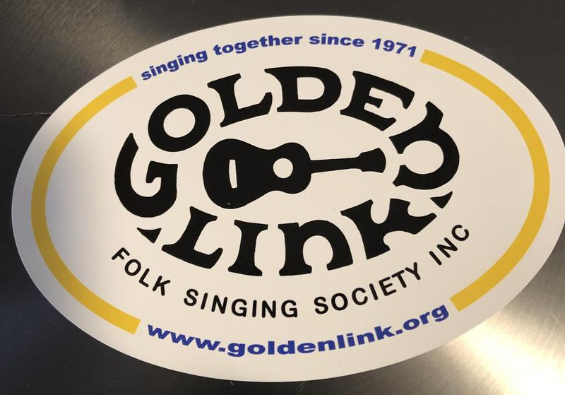 Golden Link Window Decal